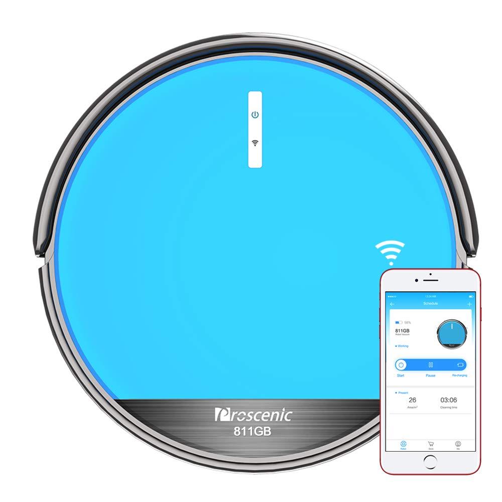 Acquisto Aspirapolvere Robot, Proscenic 811GB Intelligente Blu(2 in 1: robot aspirapolvere e lavapavimenti), Con app e controllo Telecomando, serbatoio dell'acqua elettrico, Ricarica automatica Prezzo offerta