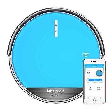 9038781dc5 Proscenic 811GB Aspirateur Robot Connecté Wi-Fi, Nettoyeur et Laveur 3 en 1,