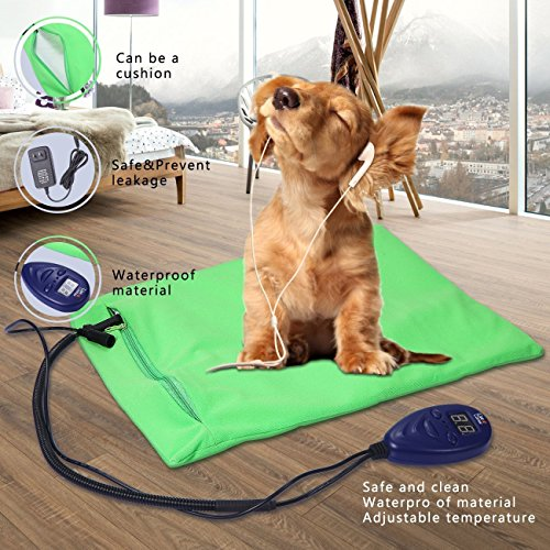 Heating Pads For Pets, Petcaree Warming Dog Beds, Pet Mat With Chew  Resistant Cord Soft Removable Cover (11.8 X 15.7in)