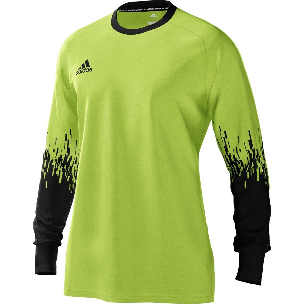 AdidasメンズAssita 17ゴールキーパージャージー長袖パッド入り肘for Soccerソーラーグリーンブラック B07BSKP5YJ X-Large