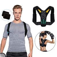 Tencoz Corrección de Postura, Ajustable Corrector de Hombro postural Transpirable Volver a cinturón Postura corrección cinturón Lumbar Apoyo para Hombres Mujer, Mejora Apoyo Postura