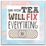 Matvira 'Ek Garam Tea' All Over Fridge Magnet