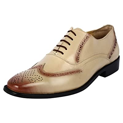 Liberty Brogue Dress Shoes for Men Wingtip/Cap Toe Genuine Leather Lace Up Formal Business Shoes | Oxfords