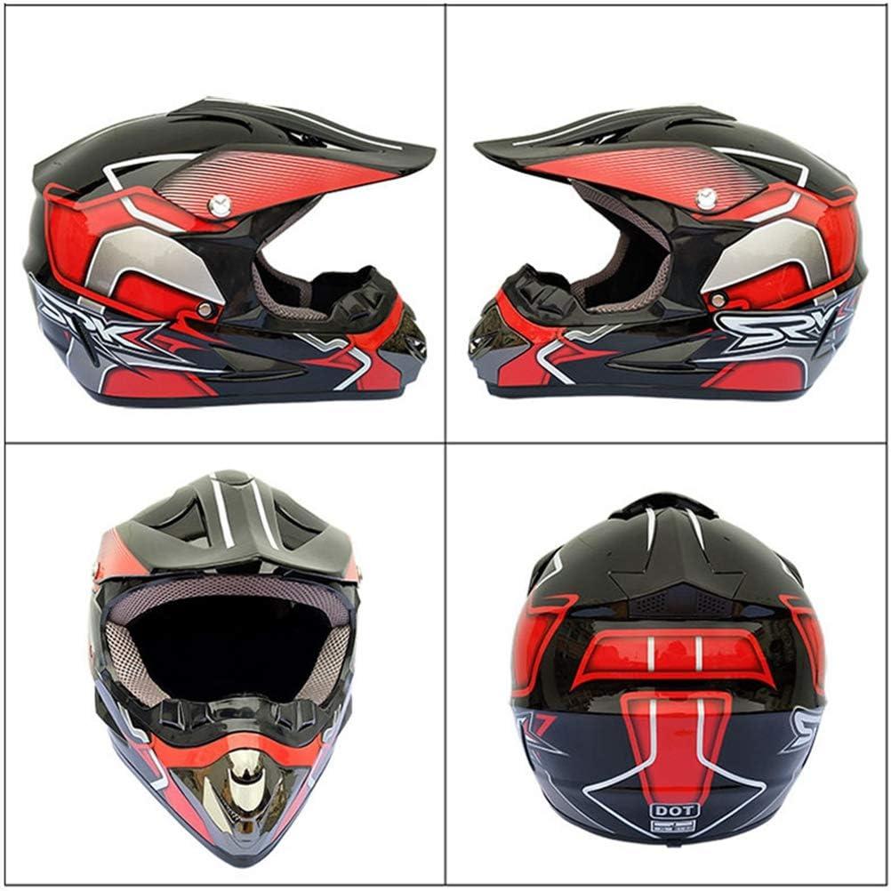 M/änner Sto/ßfest Vollgesichtsmotorradhelm Off Road Anti-Fall Motorradhelm Motocross Racing Moutain Fahrrad Sicherheitskappen 23 Farben Optional