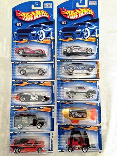 Mattel Hot Wheels 10 Pack Die-cast Cars Set Lot (Styles May Vary) No Duplicates! ()