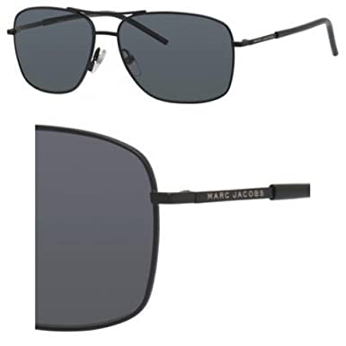 476ca037e6ac Amazon.com  Marc Jacobs Marc 62 S 010G Matte Black AH gray polarized ...