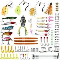 RUNCL Fishing Lures Kit, Fishing Baits Tackle -...