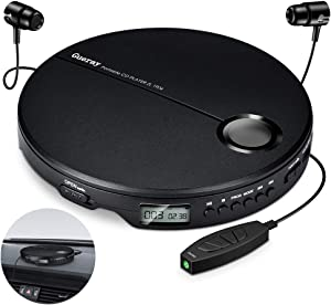 Portable CD Player Walkman CD Player for Car Gueray Small CD Player with Headphone for Kids Compact CD Discman Personal Disc Player Shockproof Anti-Skip