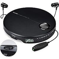 Gueray CD-spelers draagbaar met koptelefoon Persoonlijke CD-spelers met LCD-display Walkman Discman voor Car Kids