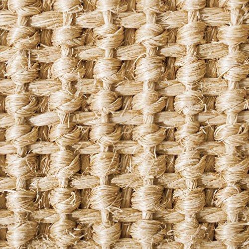Casa pura® Amazonas 100% Natural Sisal Rug with Cotton Border | 4'x6' | Natural | Non Slip Latex Backing | 3 Sizes, 2 Colors