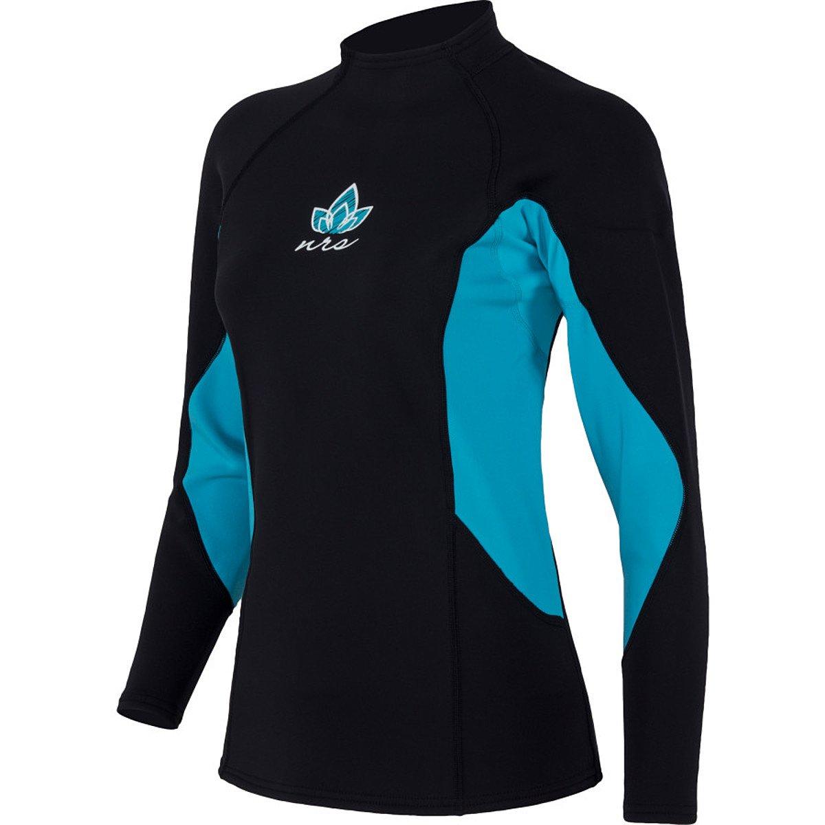 NRS HydroSkin 0.5 LS Shirt - Women's Black / Ocean XS by NRS