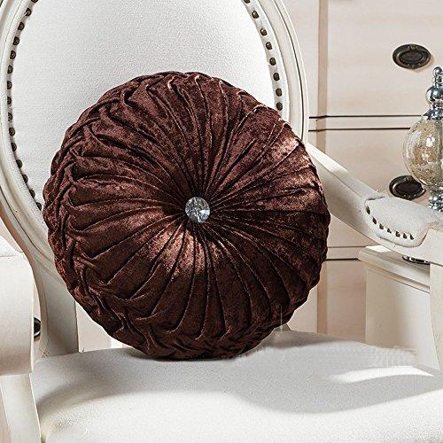 Round Pumpkin (Zituop Home Decorative Round Pumpkin Throw Pillows, 13.8-inch (brown))