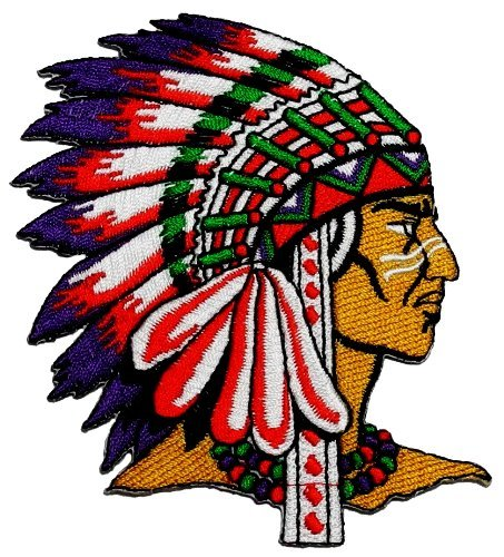 (Native American Indian DIY Applique Embroidered Sew Iron on Patch)