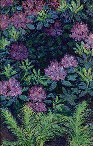 'Blanche Hoschede Monet-Rhododendrons, 1928' Oil Painting, 20x31 Inch / 51x79 Cm ,printed On High Quality Polyster Canvas ,this High Definition Art Decorative Canvas Prints Is Perfectly Suitalbe For Laundry Room Artwork And Home Decoration And (Rent Costumes Online)