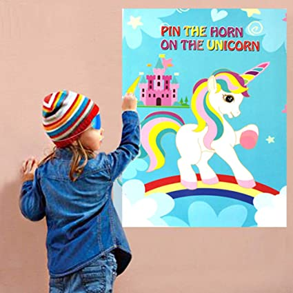 amazon com dpist pin the horn on the unicorn party games for