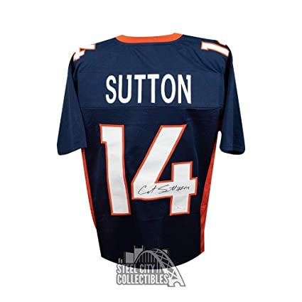 Signed Courtland Sutton Jersey - Custom Navy - JSA Certified ... 9f1acb466