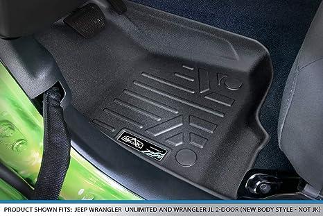 Nylon Carpet Black CFMBX1JP7104 Coverking Custom Fit Front and Rear Floor Mats for Select Jeep Wrangler Models
