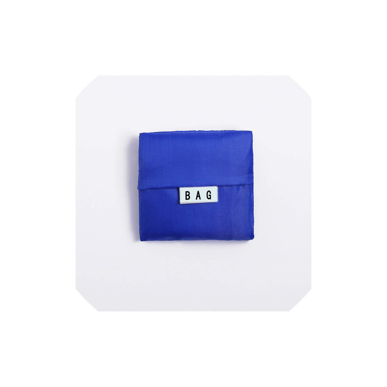 Multifunctional Folding Environmental Protection Package Shopping Bag Bag Oxford Cloth Storage Bag,Drak Blue by Smileshop01