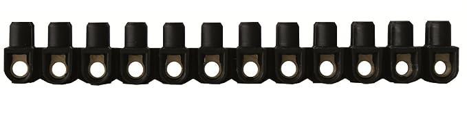 Legrand LEG98431 Borne de raccordement Nylbloc 6 mm 41 A 2 Vis/Borne Noir