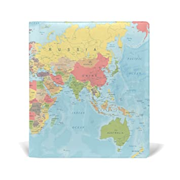 Amazon baihuishop colored world map book covers fits upto 9 baihuishop colored world map book covers fits upto 9 x 11 inch durable reusable size fit gumiabroncs Choice Image