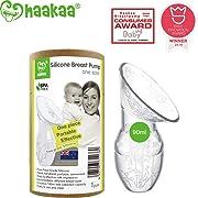 Haakaa Breast Pump Manual Breast Pumps Silicone Breastfeeding Pump Milk Pump 100% Food Grade Silicone (3.5oz/90ml)