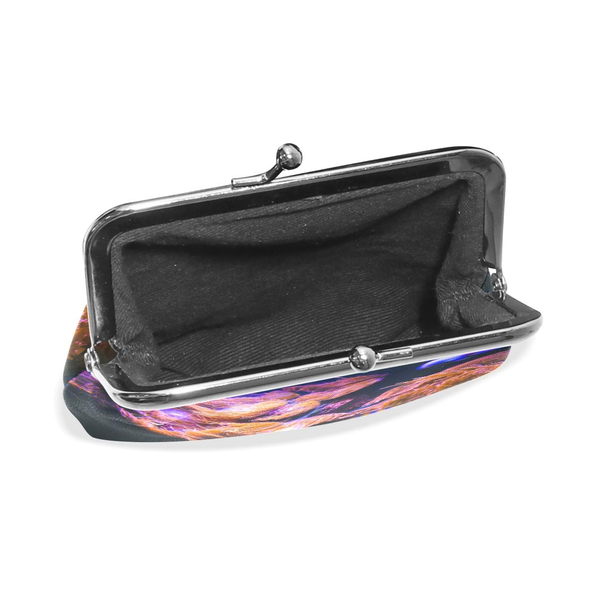 CLveg Coral Reef PU Leather Coin Purse Card Package Wallet for Women Metal Button
