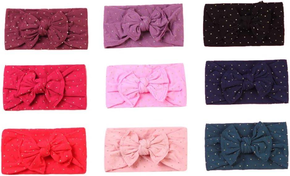Lomsarsh Nouveau-n/é filles b/éb/é enfant en bas /âge petit tissu arc bandeau en nylon bande de cheveux accessoire b/éb/é arc /à larges bords super bande de cheveux en nylon doux