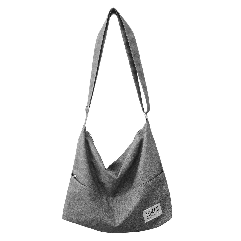 TOMAS Women Casual, Simple, Fashion, Resistant To Dirty, Lightweight,Durable Canvas Hobo Bag, Single Shoulder Bag Totes Bag Crossbody Bag