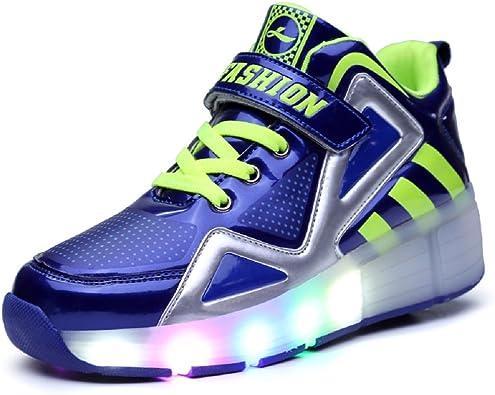 Led Luces Zapatos con Ruedas para Pequeños Niños y Niña Automática Calzado de Skateboarding Deportes de Exterior Patines en Línea Brillante Mutilsport Aire Libre y Deporte Gimnasia Running Zapatillas: Amazon.es: Zapatos y