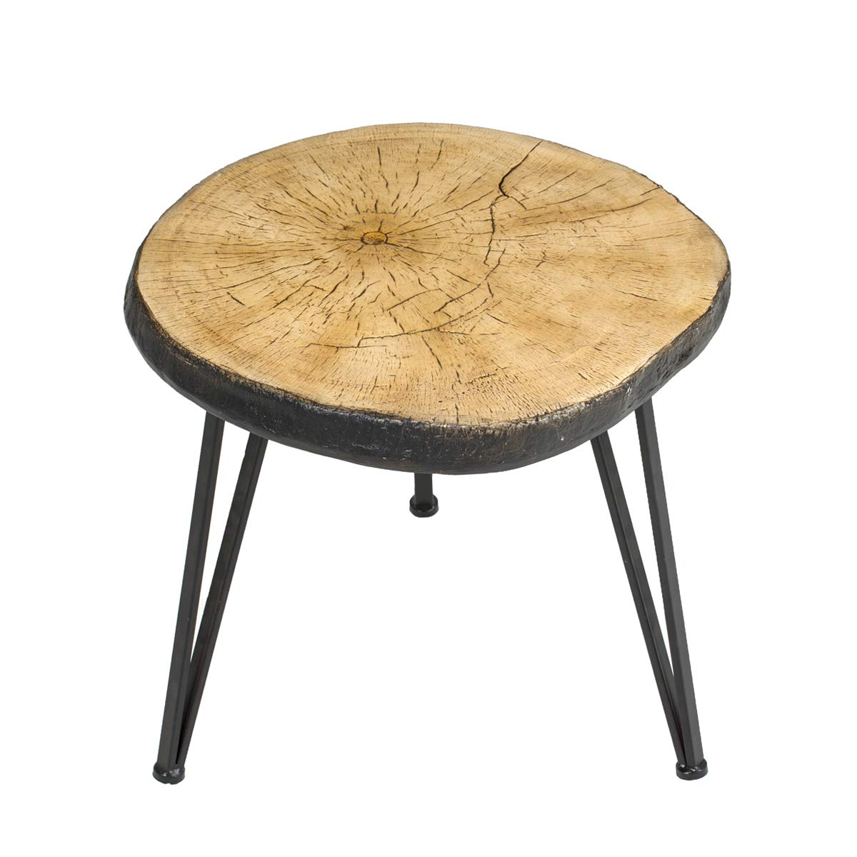 SUNEON End Tables, Imitation Wood Coffee Side Table for Living Room,Bedroom,Balcony,Garden