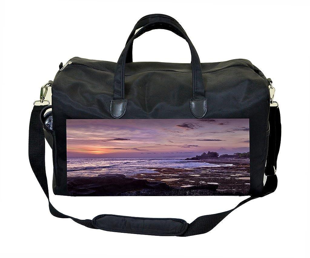 Purple Sunset Print Gym Bag