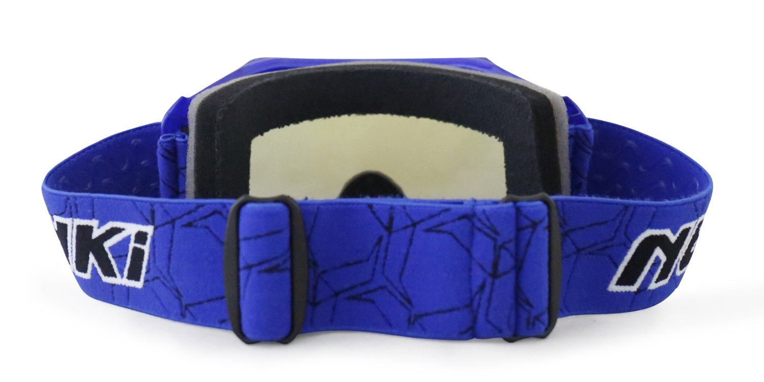 Blue MX Goggles For Kids Youth By NENKI For Motocross Motorcycle Dirt Bike ATV Offroad Ski Snowboard with Anti Fog and 100/% UV Protection Lens NK-1018
