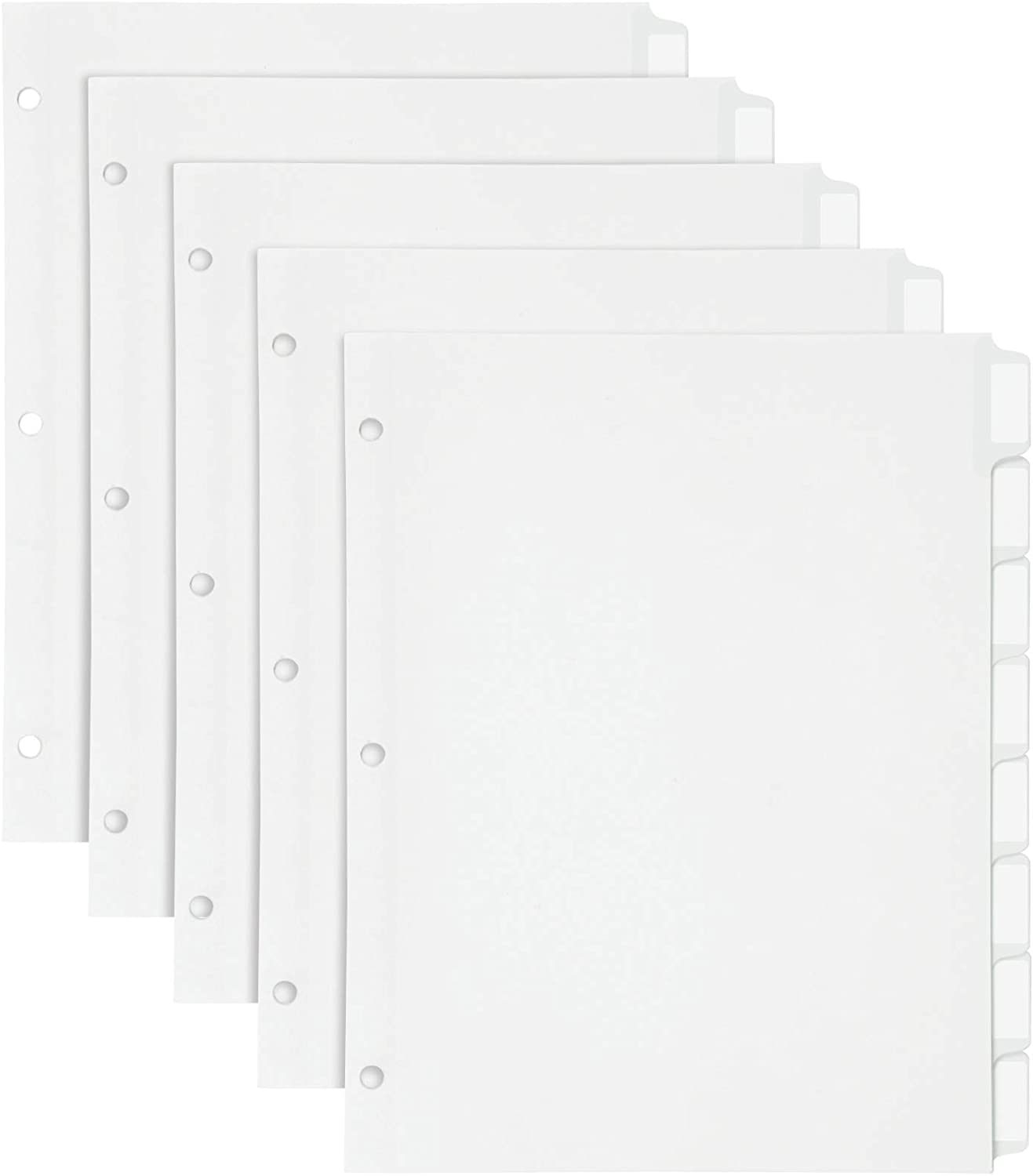 Oxford Customizable Binder Dividers, 8-Tab, Self-Stick Printable Tab Labels, Letter Size, 5 Sets (11315EE)