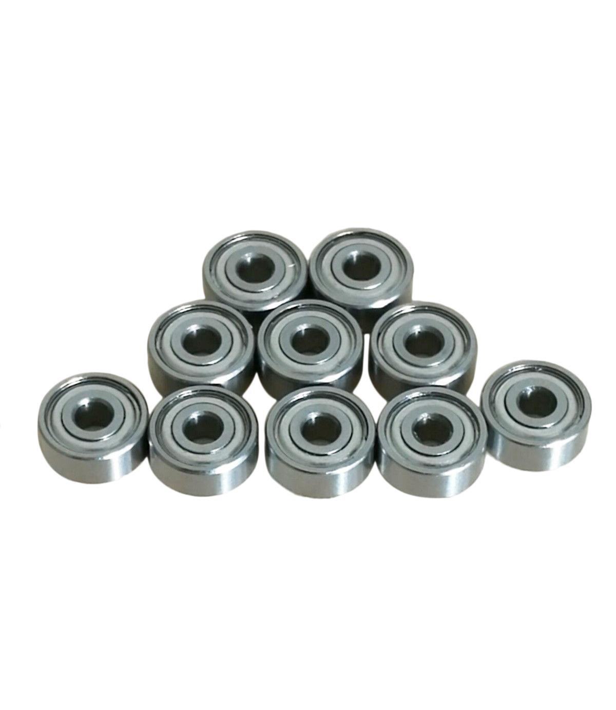 10pcs R2ZZ R2 1//8 x 3//8 x 5//32 Metal Shielded Ball Bearings