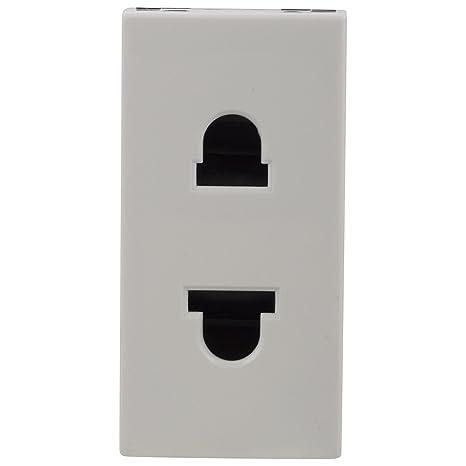 Legrand Myrius 6/16A 2 Pin Socket WH 673041  White