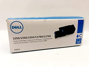 Dell C5GC3 1250 1350 1355 1760 1765 Toner Cartridge (Cyan) in Retail Packaging