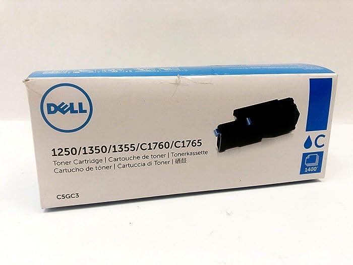 Dell C5GC3 1250 1350 1355 1760 1765 Toner Cartridge (Cyan) in Retail Packaging