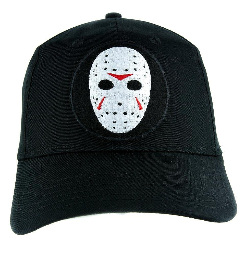 Amazon.com  Hockey Mask Friday the 13th Hat Baseball Cap Horror Clothing Jason  Voorhees  Clothing 3c289ca9f7f
