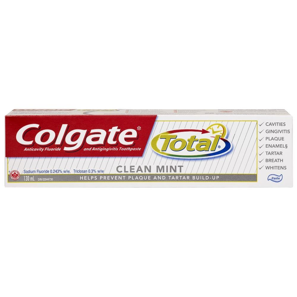 Colgate Total Whitening Anticavity Fluoride Gel Toothpaste, 170 mL 320888
