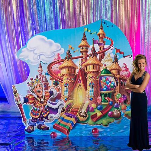 7 ft. 4 in. Candy Land Castle Standee Standup Photo Booth Prop Background Backdrop Party Decoration Decor Scene Setter Cardboard Cutout -