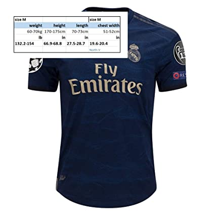 Amazon.com: North-V Real Madrid 2019-2020 Away Soccer Jersey ...
