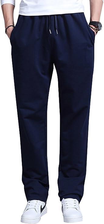 Lachi Pantalones Chandals Hombre Largos Deportivos Algodón: Amazon ...