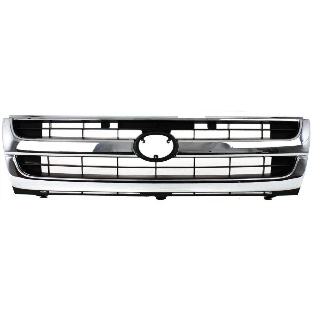 2ccf0f4f7ac4b Grille Compatible with Toyota Tacoma 97-00 Chrome Shell/Painted-Black  Insert 2WD