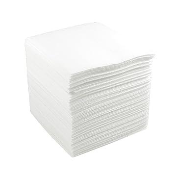 sourcingmap® 100 x toallitas para salas limpias de 250x250mm blanca de poliéster celulosa antipolvo
