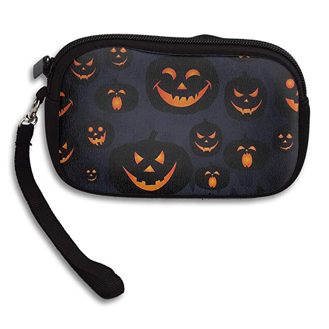 Amazon.com: Evil Pumpkin Halloween monedero monedero ...