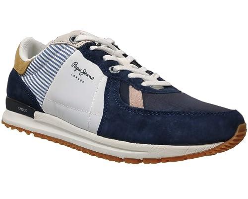 Pepe Jeans Tinker Pro Blue PMS30510, Zapatillas para Hombre: Amazon.es: Zapatos y complementos