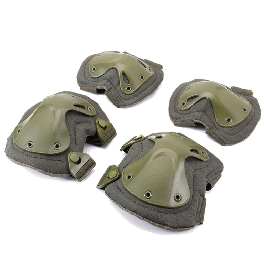 nacola大人用膝パッド肘パッドセット、4個膝肘保護用パッドPaintallスケートアウトドアスポーツ安全ガードギアセット B07F6CJMKT  # 4