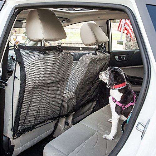 Pet Vida cs8bk Squared Easy-Hook Backseat Dog Cat & Asiento Infantil para Coche Seguridad Barrera, Talla única, Color Negro