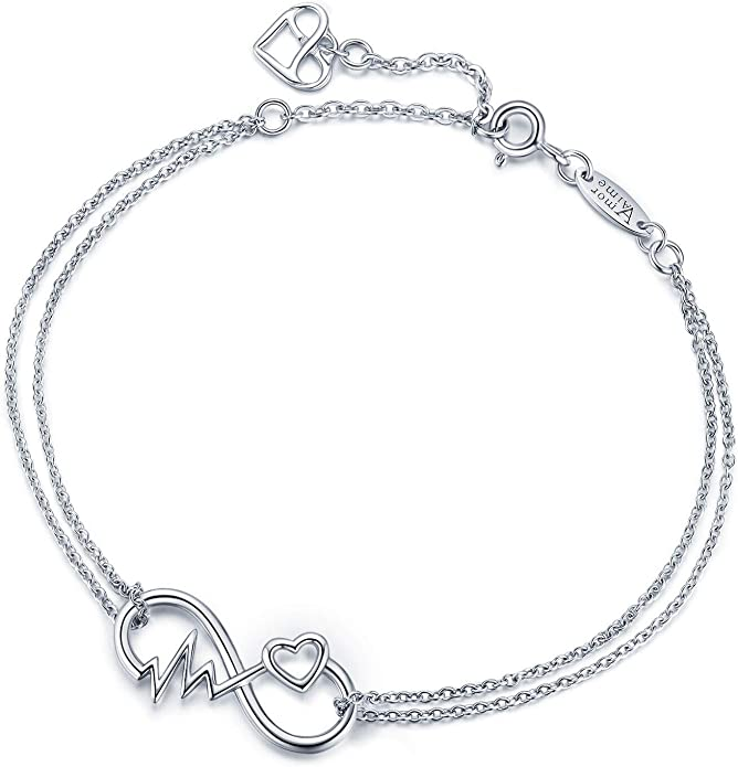1pc Sterling Silver Charm Winged Angel Heart Charm Beads Adorned with Diamond Simulant Fit All Charm Bracelet Women Girls Birthday Gift EC72