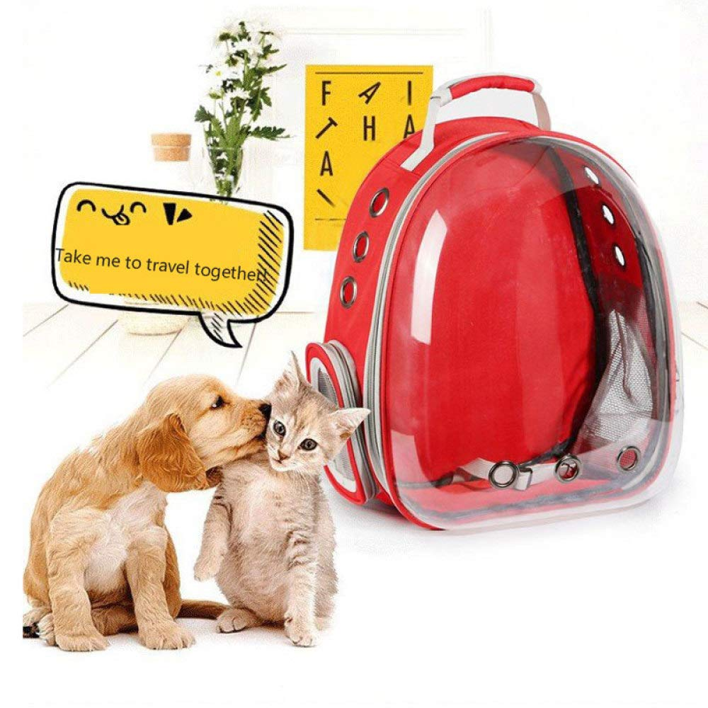 Transparent Pet Backpack,Cat Backpack Puppy Carrying Bag Transparent Space Capsule Pet Travel Carrier